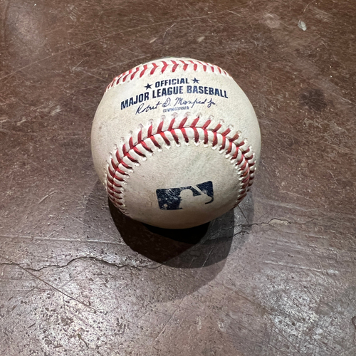 Photo of 2021 NLDS Game 1 Game Used Baseball used on 10/8 vs. LAD - T-1: Logan Webb to Mookie Betts - Single to RF