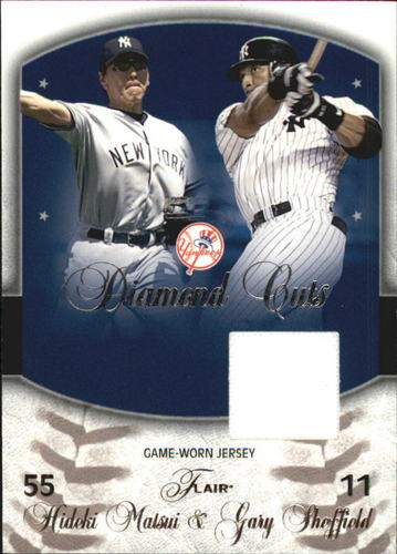 Photo of 2005 Flair Diamond Cuts Jersey #GS Gary Sheffield