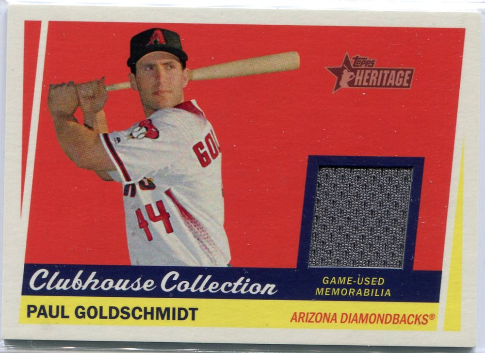 2016 Topps Heritage Clubhouse Collection Relics game worn jersey Paul Goldschmidt