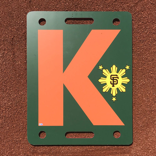 Photo of San Francisco Giants - K Board - 2016 Filipino Heritage Night