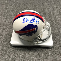 HOF - BILLS BILLY SHAW SIGNED BILLS MINI HELMET
