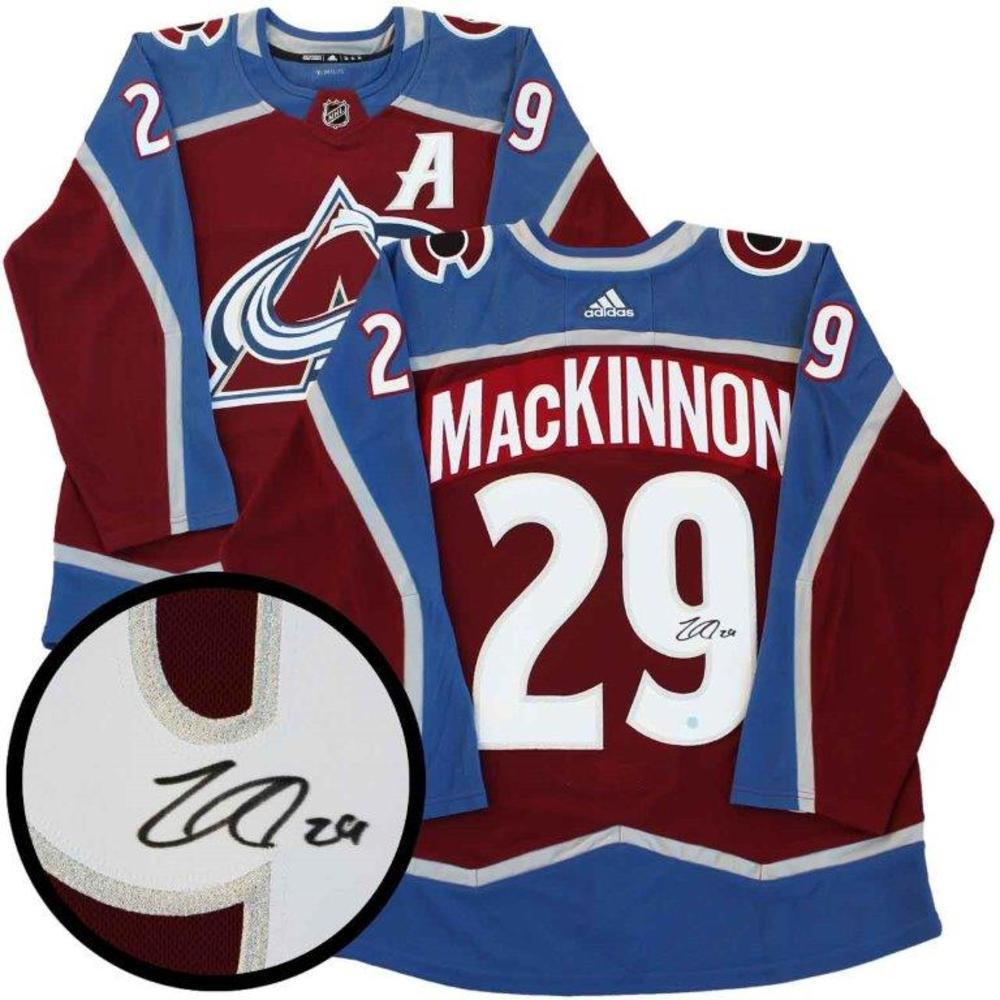 Nathan MacKinnon Signed Jersey Pro Adidas Colorado Avalanche Burgundy 17-18