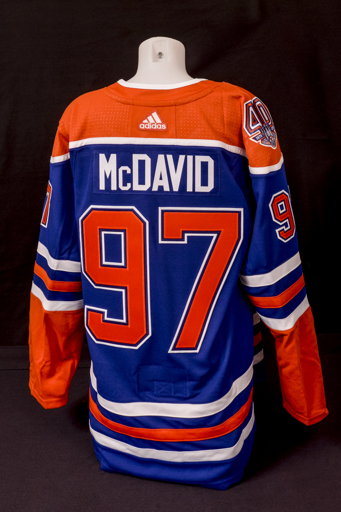 4d31d9076a4 2018-19 Edmonton Oilers Team-Signed Royal Blue Oilers Adidas Pro Authentic  Jersey Crested To  97 Connor McDavid