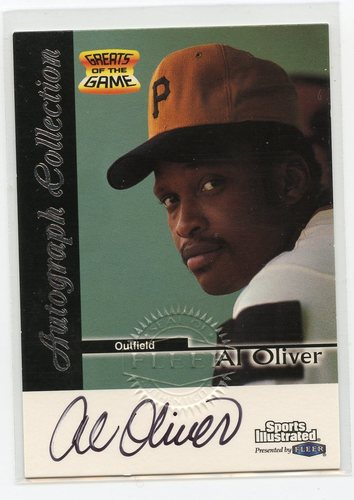Photo of 1999 Sports Illustrated Greats of the Game Autographs #54 Al Oliver