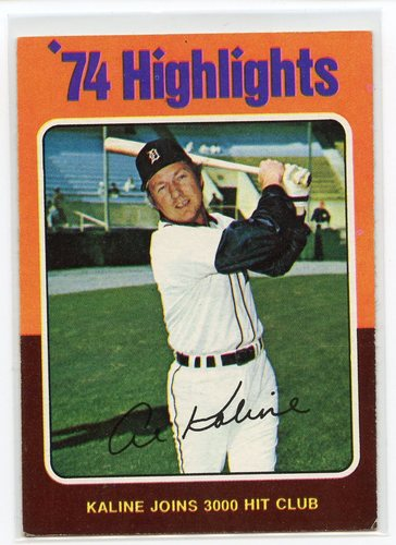 Photo of 1975 Topps #4 Al Kaline HL/3000 Hit Club