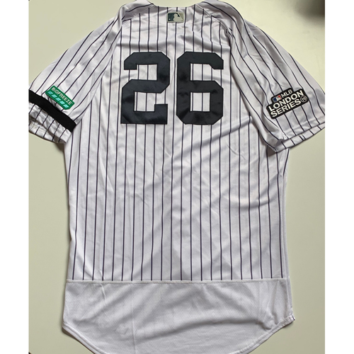 Photo of 2019 London Series - Game-Used Jersey - DJ LeMahieu, New York Yankees vs Boston Red Sox - 6/29/19