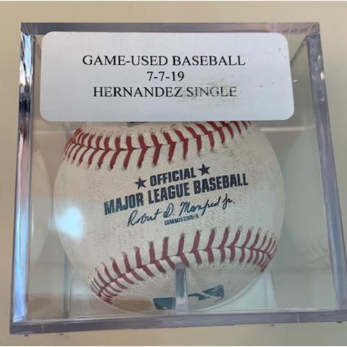 Photo of Game-Used Baseball: Marco Hernandez Single