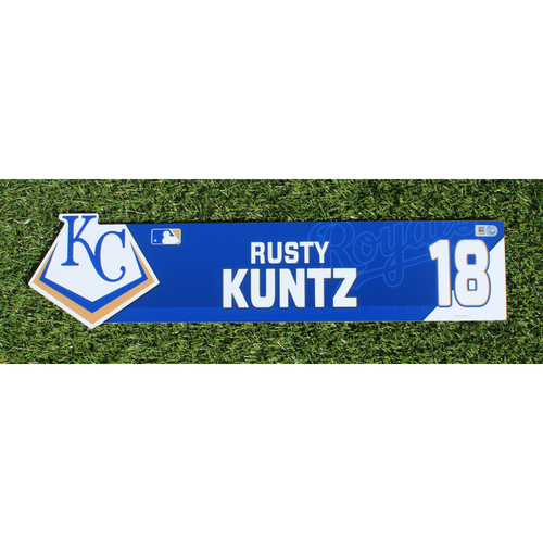 Team-Issued Nameplate: Rusty Kuntz