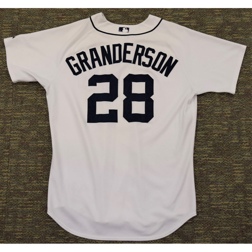 Photo of Curtis Granderson Detroit Tigers #28 Home Jersey (NOT MLB AUTHENTICATED)
