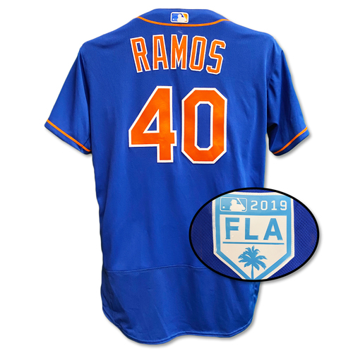 Photo of Wilson Ramos #40 - Team Issued Blue Alt. Home Jersey - 2019 Spring Training