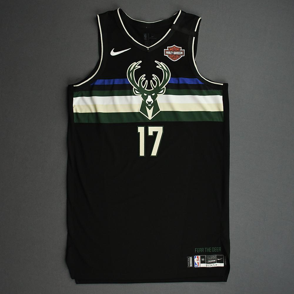 Dragan Bender - Milwaukee Bucks - 2020 NBA Paris Games - Game-Worn Statement Edition Jersey