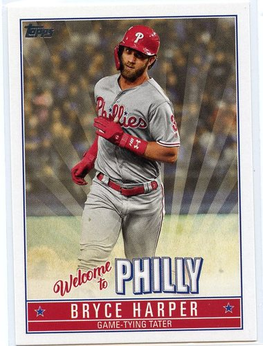 Photo of 2019 Topps Update Bryce Harper Welcome to Philly #BH20 Bryce Harper