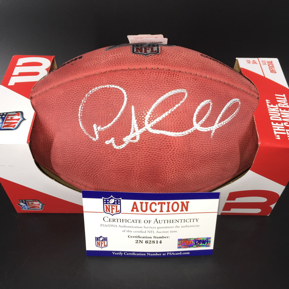NFL - Seahawks Pete Carroll Signed Authentic Football with 100 Seasons Logo