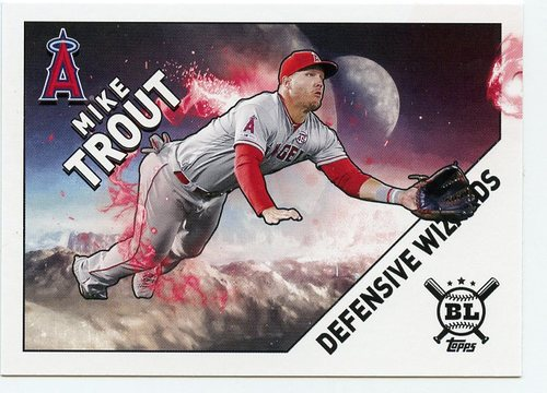 Photo of 2020 Topps Big League Defensive Wizards #DW14 Mike Trout
