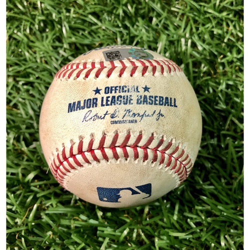 Photo of Game Used Baseball: Ryan Yarbrough strikes out Santiago Espinal - Ryan Yarbrough First K of 2020 - Santiago Espinal First MLB AB - July 25, 2020 v TOR