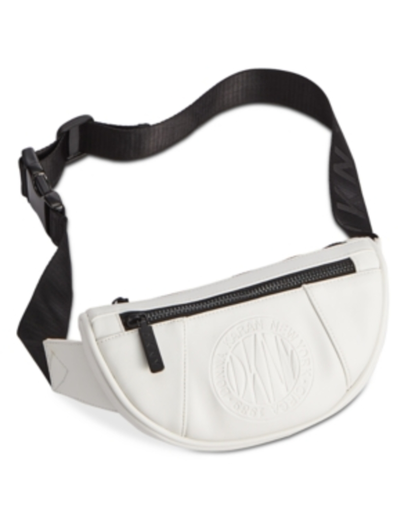 Photo of Dkny Embossed Logo Faux Leather Belt Bag