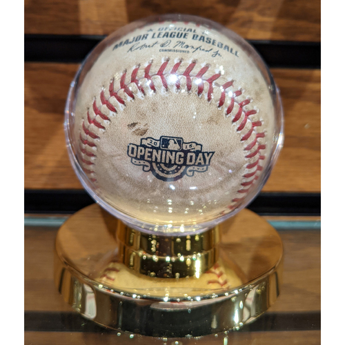 Photo of April 6, 2015 Boston Red Sox at Philadelphia Phillies Opening Day Game Used Baseball