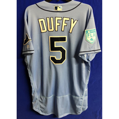 Photo of Team Issued Spring Training Jersey: Matt Duffy - 2019