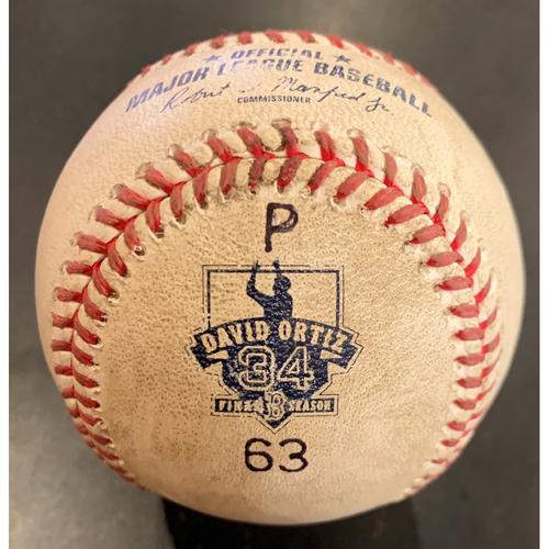 Photo of Toronto Blue Jays at Boston Red Sox October 2, 2016 Game Ready Ortiz Pitch Ball - David Ortiz Final Regular Season Game