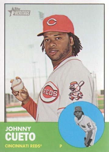 Photo of 2012 Topps Heritage #241 Johnny Cueto