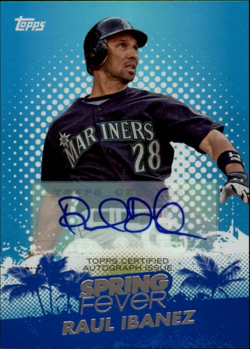 Photo of 2013 Topps Spring Fever Autographs #RI Raul Ibanez/113