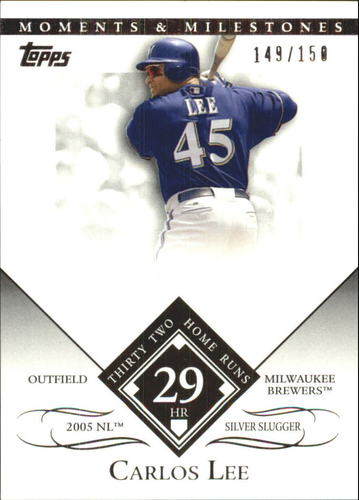Photo of 2007 Topps Moments and Milestones #145-29 Carlos Lee/HR 29