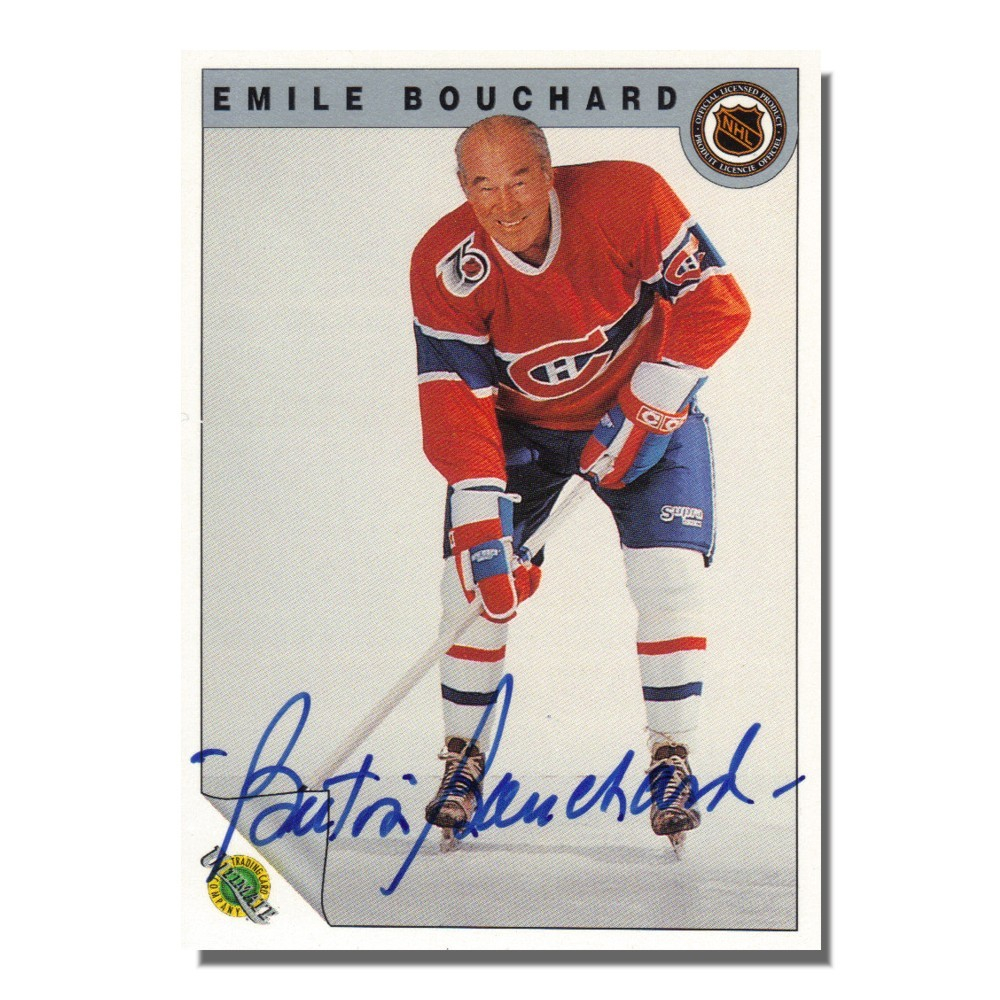 Emile Bouchard Autographed Montreal Canadiens 1992 Ultimate Trading Card Company Card