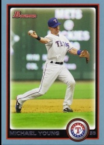 Photo of 2010 Bowman Blue #76 Michael Young