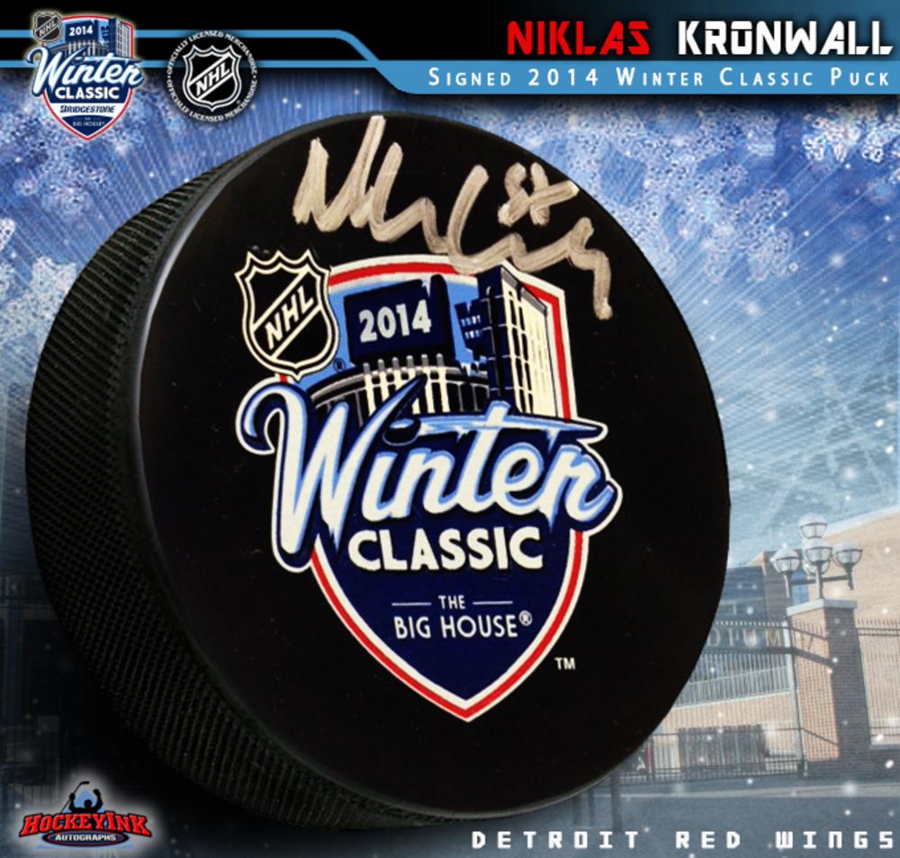 NIKLAS KRONWALL Signed 2014 NHL Winter Classic Puck
