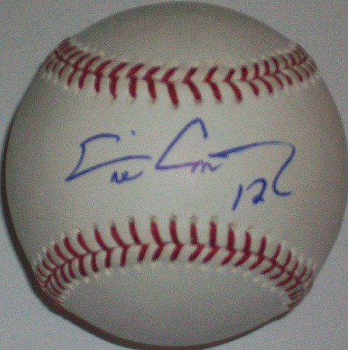 Photo of Eric Chavez Autographed Baseball
