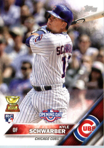 Photo of 2016 Topps Opening Day #OD47A Kyle Schwarber Rookie Card
