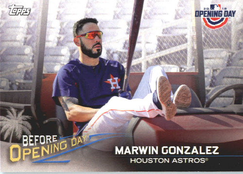 Photo of 2018 Topps Opening Day Before Opening Day #BODMG Marwin Gonzalez