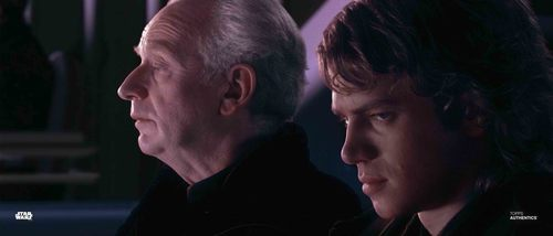 Anakin Skywalker and Chancellor Palpatine