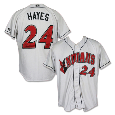 #24 Ke'Bryan Hayes Autographed Game Worn Home White Jersey