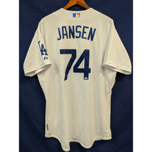 Photo of Kenley Jansen Game-Used Home Jersey - 6/9/15 (closed out game for save)