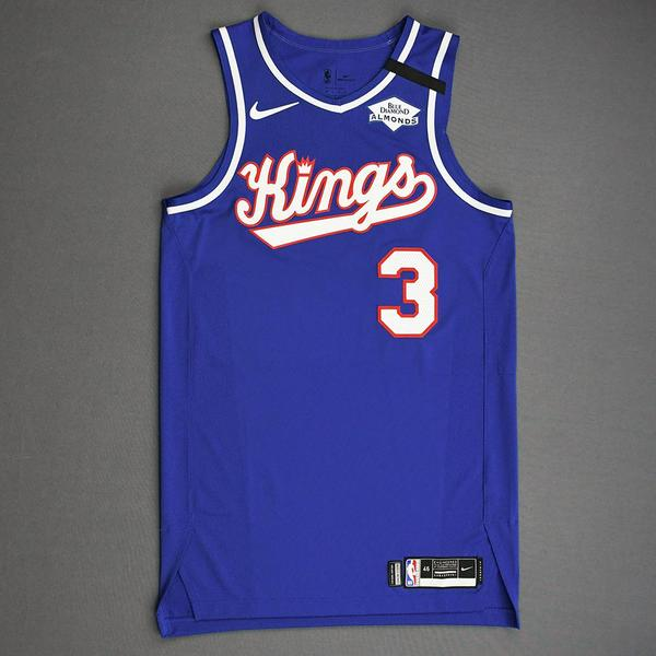 Image of Yogi Ferrell - Sacramento Kings - Game-Worn Classic Edition 1990-94 Road Jersey - Dressed, Did Not Play - 2019-20 NBA Season