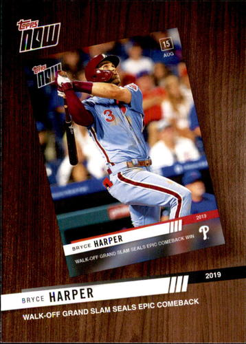 Photo of 2020 Topps '19 Topps Now Review #TNR8 Bryce Harper