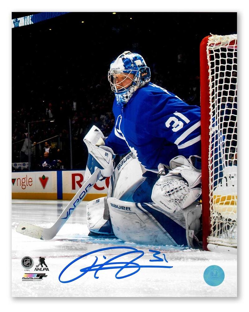 Frederik Andersen Toronto Maple Leafs Autographed Goalie Crease 8x10 Photo