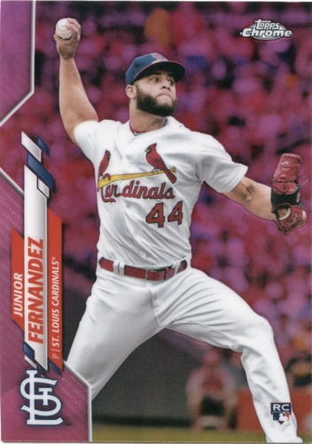Photo of 2020 Topps Chrome Pink Refractors #162 Junior Fernandez