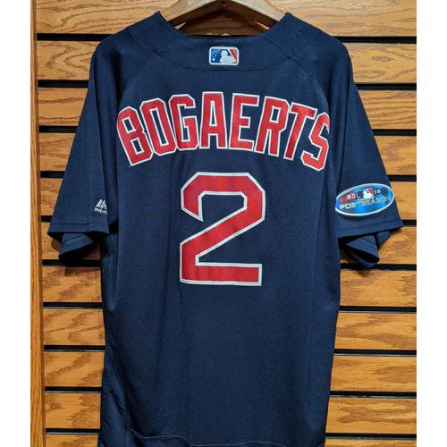 Photo of 2018 Postseason Xander Bogaerts #2 Team Issue Navy Road Alternate Jersey