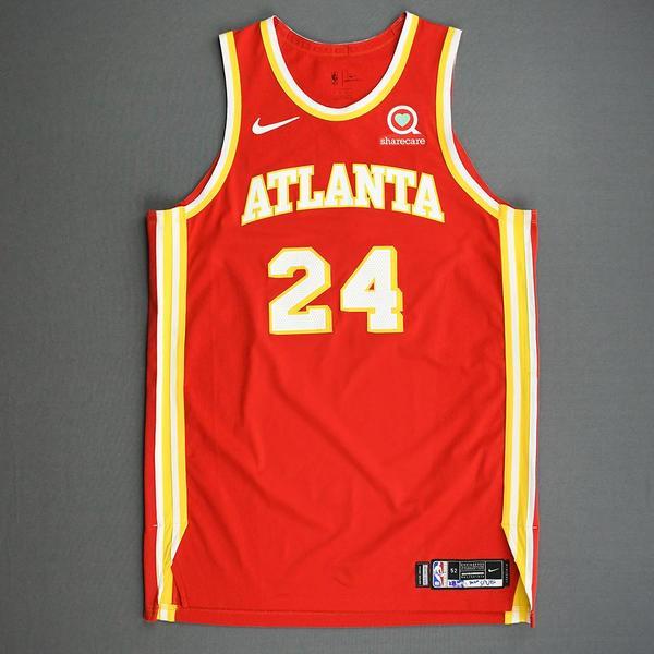 Image of Bruno Fernando - Atlanta Hawks - Game-Worn Icon Edition Jersey - 2020-21 NBA Season