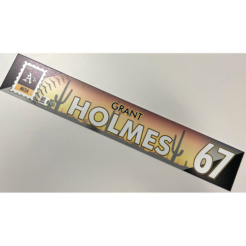 Photo of Game-Used 2021 Spring Training Locker Nameplate - Grant Holmes