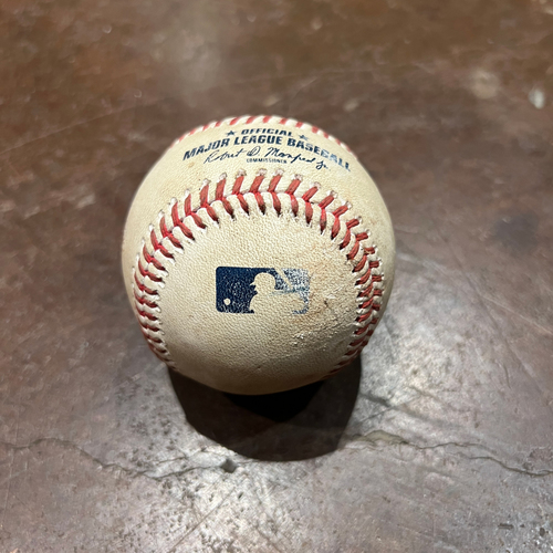Photo of 2021 NLDS Game 2 Game Used Baseball used on 10/9 vs. LAD - T-6: Kevin Gausman to Trea Turner - Double to LF