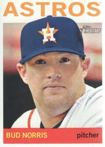 Photo of 2013 Topps Heritage #370 Bud Norris