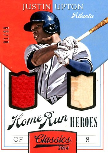 Photo of 2014 Classics Home Run Heroes Materials Combos #18 Justin Upton/99