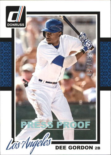 Photo of 2014 Donruss Press Proofs Silver #303 Dee Gordon