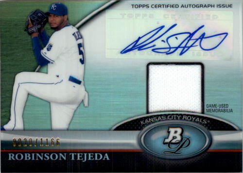 Photo of 2011 Bowman Platinum Relic Autograph Refractors #RT Robinson Tejeda/1166