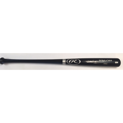 Photo of Ivan Rodriguez Autographed Black Rawlings Bat