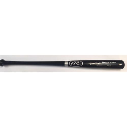 Ivan Rodriguez Autographed Black Rawlings Bat