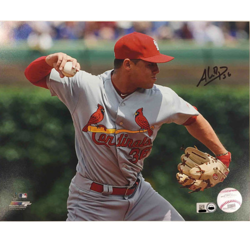 Cardinals Authentics: Aledmys Diaz Autographed Photo